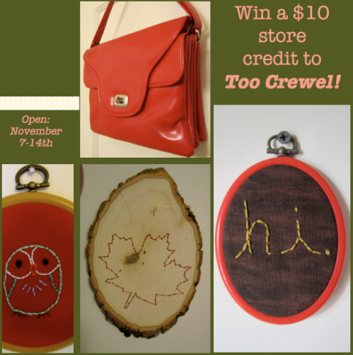Win a $10 store credit to Too Crewel!