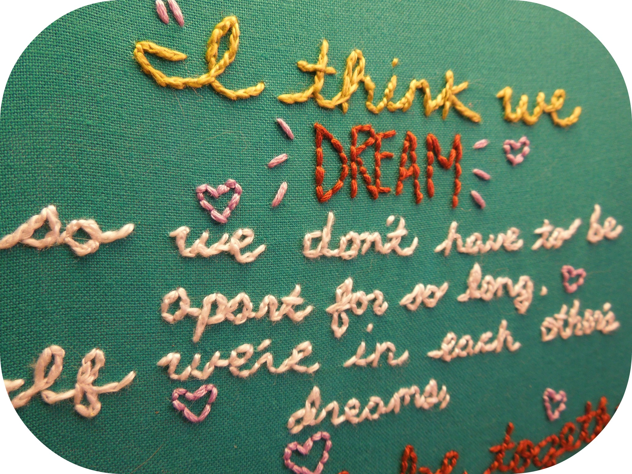 Winnie the pooh quote embroidery too crewel